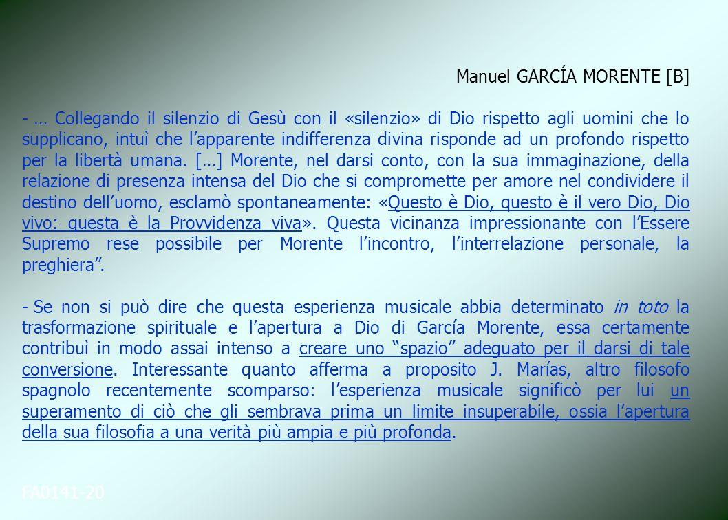 Manuel GARCÍA MORENTE [B]